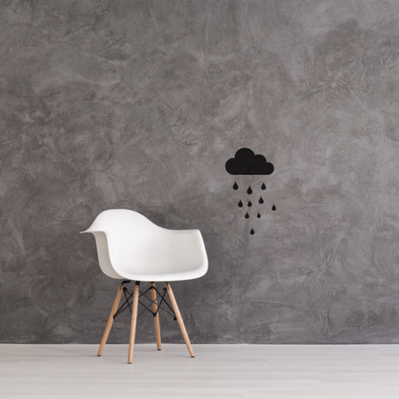 Wall stickers - Cloud with rain