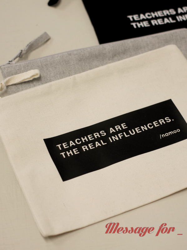 Pochette in tela / Teachers are the real influencers