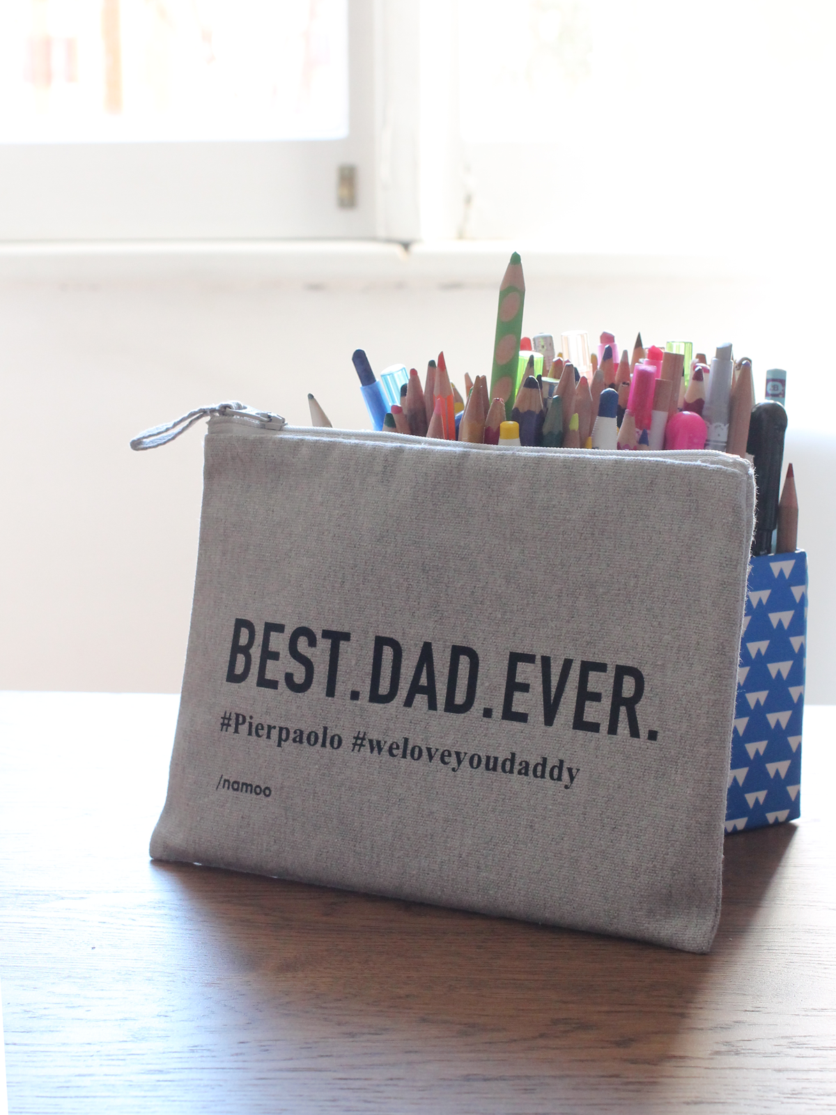 Pochette in tela / BEST.DAD.EVER.
